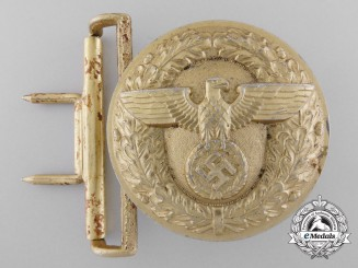 A German Political Leader's Belt Buckle; RZM Marked