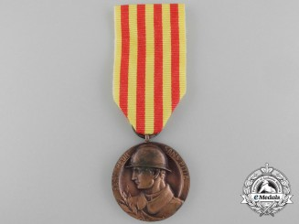 A First War Spanish Medal for Catalan Volunteers 1914-1918