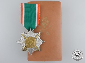 An Order of Azad Hind; Second Class Star with Case by Rudolf Souval