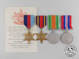 A Second War Grouping to Private Buxton;  Border Regiment KIA in India 1944