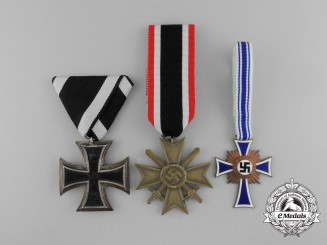 A Lot of Three German Medals and Awards