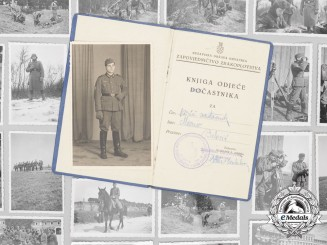 """A Second War Croatian Air Force NCO's Booklet, Photos & """"Way of the Cross"""" Notes"""