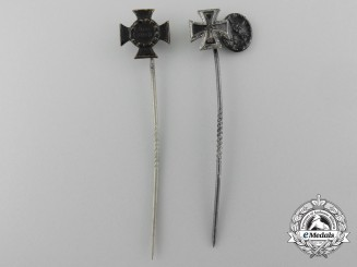 A Set Of Two First War German Stick Pin Awards