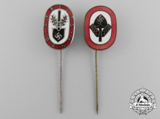 A Set of Two Reichs Labour Service Stick Pins