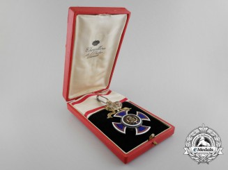 A Montenegrin the Order of Danilo; Commander's Cross by V. Mayer with Case