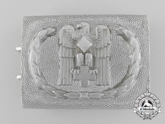 A German Red Cross Enlisted Belt Buckle by Josef Feix und Söhne