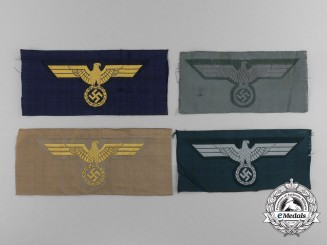 A Lot of Four German Second War Breast Eagles