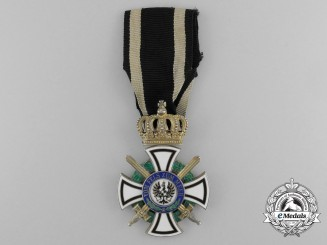 A Prussian House Order of Hohenzollern; Knight's Cross with Swords by Friedlander
