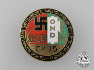 An Italian National Recreational Club Conference of Bands & Choirs Badge