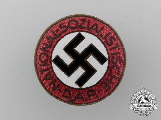 A NSDAP Party Member Lapel Badge by Ferdinand Wagner