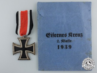 An Iron Cross Second Class 1939 by Klein & Quenzer with Packet