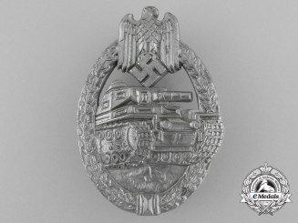 A Silver Grade Tank Badge; Unmarked and Mint