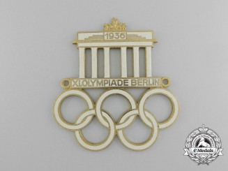 A 1936 XI Berlin Summer Olympic Games Automobile Grill Plate