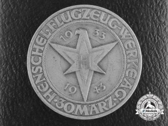 A Tenth Anniversary of the Founding of the Henschel Aircraft Factory Medal