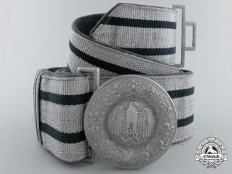 A German Army Officer's Brocade Belt and Buckle