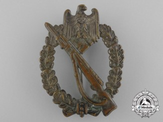 A Silver Grade Infantry Badge in Tombac; Unmarked