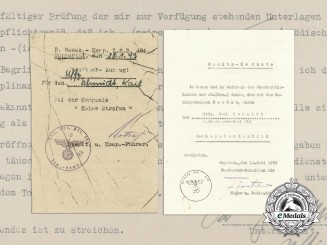 A 1943 Award Document for the Lappland Shield