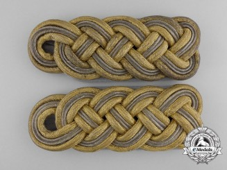 A Waffen-SS Pair of Shoulder Boards for an SS-Brigadeführer
