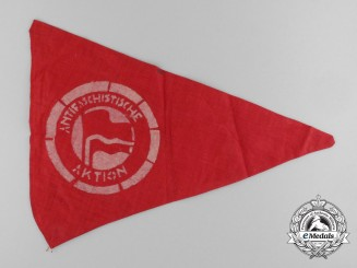 A Rare German Antifascist Action Pennant c. 1932