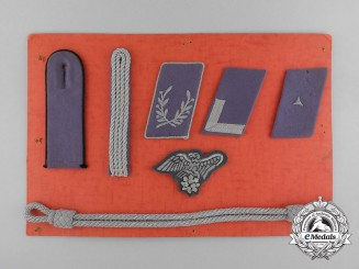 An RLB Salesmen's Board with Collar Boards and Uniform Accessories
