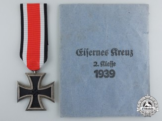 An Iron Cross Second Class 1939 with Packet by L. Chr. Lauer, Kleinweidenmühle