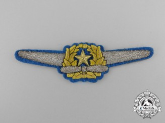A Scarce & Beautifully Embroidered WWII Japanese Army Officer Pilot Wing