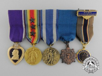 A First War Group of Five American Miniature Medals