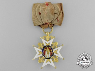 An Order of Saint Louis in Gold; Knight of the Second Restoration Period (c.1819-1830)