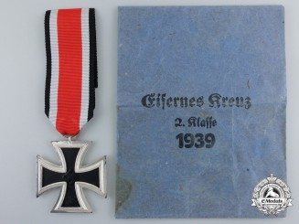 An Iron Cross Second Class 1939 by Gustav Brehmer with Packet