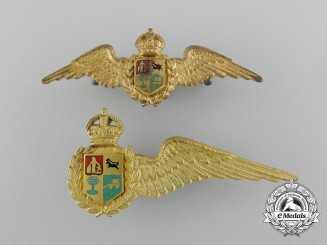 Two Second War South African Air Force Pilot's Wings
