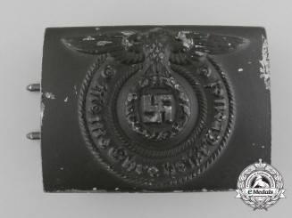 An Olive Drab SS Enlisted Man's Belt Buckle