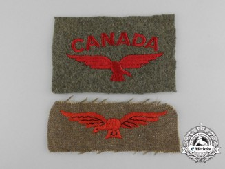 Two Royal Canadian Air Force (RCAF) Shoulder Insignias