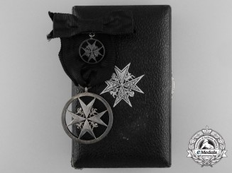 A 1902 Order of St. John; Breast Badge with Miniature; Named