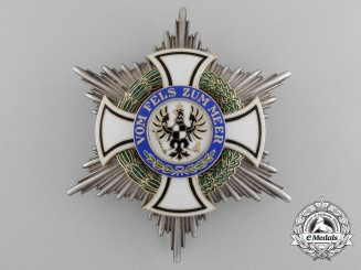 A Prussian House Order of Hohenzollern; Commander Cross by Godet
