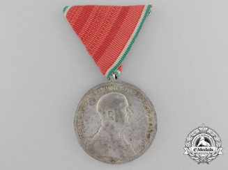 A Large Second War Hungarian Silver Bravery Medal