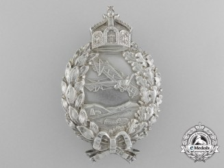 """A First War German Imperial Pilot's Badge in """"800"""" Silver"""