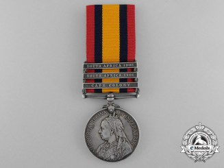 A Queen's South Africa Medal to the 12th Royal Lancers