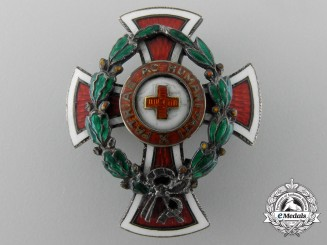 An Austrian Honour Decoration of the Red Cross; Reduced Size