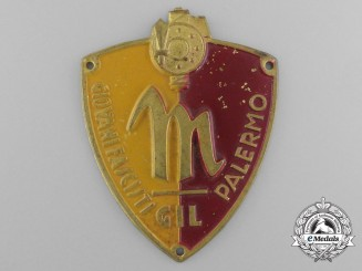 An Italian Youth of Palermo Fascist Membership Badge