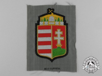 A Mint German Made Hungarian Wehrmacht/Waffen-SS Volunteer Shoulder Patch by BeVo-Wuppertal