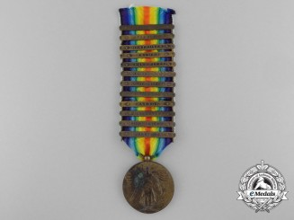 An American First War Naval Victory Medal with 12 Clasps