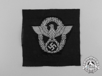 A Mint SS Police Field Cap Patch