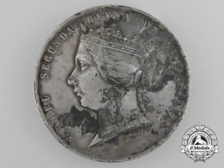 An 1859 Spanish Commemorative Medal for the War Against Morocco
