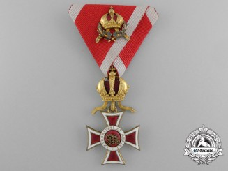 An Austrian Order of Leopold with Mini Commander's Decoration