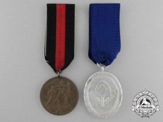 A Lot of Two German Third Reich Era Medals and Awards