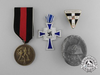 A Lot of Four German Third Reich-Era Medals, Awards, and Decoration