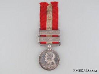 Canada General Service Medal to the  2nd Huntingdon Infantry