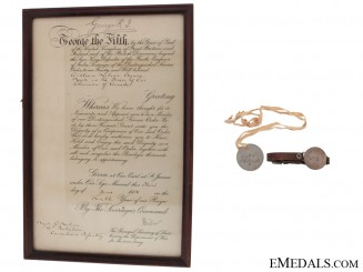 Distinguished Service Order Document to Major William Neilson