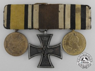A Napoleonic Wars Prussian Iron Cross 1813 Medal Grouping