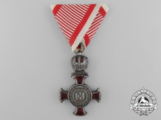 An Austrian Merit Cross; 4th Class